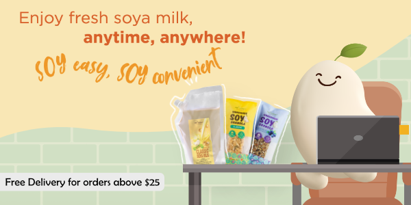 Promote Soya Milk (Free Delivery $25 & Above)