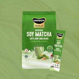 UNISOY GOLD Nutritious Soy Matcha (10 Sachets)