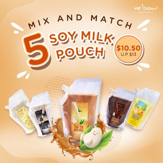 (MIX AND MATCH) Bundle of 5 Soy Milk Pouch